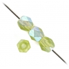 Fire Polished 4mm Olivine Matte Aurora Borealis